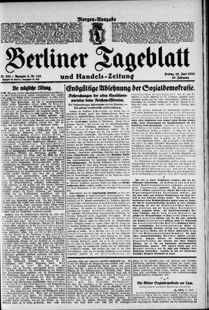 Berliner Tageblatt und Handels-Zeitung vom 18.06.1920