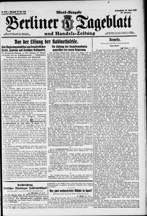 Berliner Tageblatt und Handels-Zeitung vom 19.06.1920
