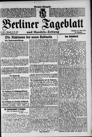 Berliner Tageblatt und Handels-Zeitung on Jun 22, 1920