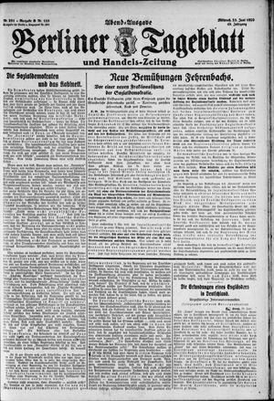 Berliner Tageblatt und Handels-Zeitung vom 23.06.1920