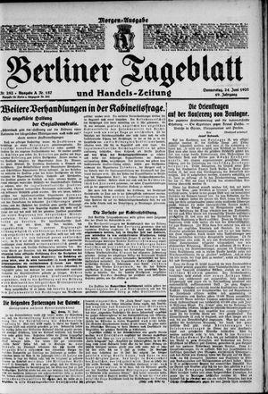 Berliner Tageblatt und Handels-Zeitung on Jun 24, 1920