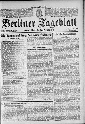 Berliner Tageblatt und Handels-Zeitung vom 25.06.1920