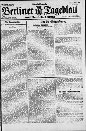Berliner Tageblatt und Handels-Zeitung vom 07.07.1920
