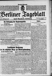 Berliner Tageblatt und Handels-Zeitung (18.12.1920)