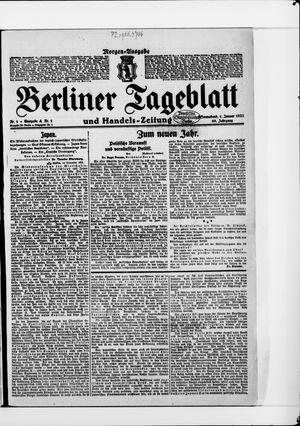 Berliner Tageblatt und Handels-Zeitung vom 01.01.1921