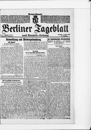 Berliner Tageblatt und Handels-Zeitung vom 04.01.1921