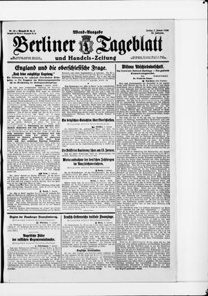 Berliner Tageblatt und Handels-Zeitung vom 07.01.1921