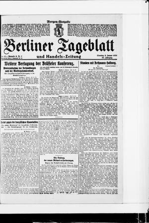 Berliner Tageblatt und Handels-Zeitung on Jan 9, 1921