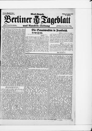 Berliner Tageblatt und Handels-Zeitung vom 10.01.1921
