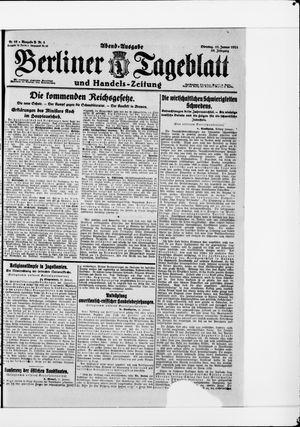 Berliner Tageblatt und Handels-Zeitung vom 11.01.1921