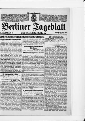Berliner Tageblatt und Handels-Zeitung vom 12.01.1921