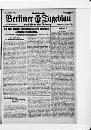 Berliner Tageblatt und Handels-Zeitung vom 14.01.1921