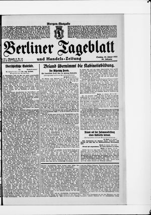 Berliner Tageblatt und Handels-Zeitung vom 16.01.1921