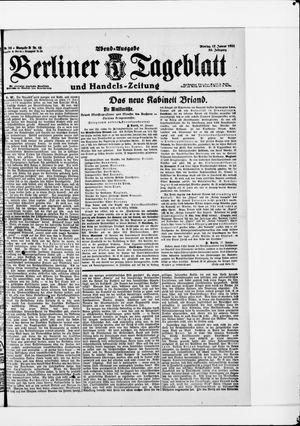 Berliner Tageblatt und Handels-Zeitung vom 17.01.1921
