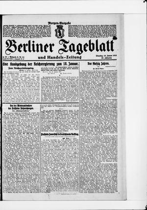 Berliner Tageblatt und Handels-Zeitung vom 18.01.1921