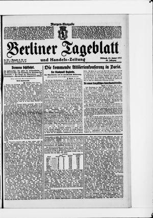 Berliner Tageblatt und Handels-Zeitung vom 19.01.1921