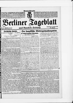 Berliner Tageblatt und Handels-Zeitung vom 20.01.1921