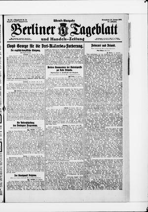 Berliner Tageblatt und Handels-Zeitung vom 22.01.1921