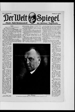 Berliner Tageblatt und Handels-Zeitung on Jan 23, 1921