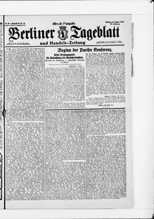 Berliner Tageblatt und Handels-Zeitung vom 24.01.1921