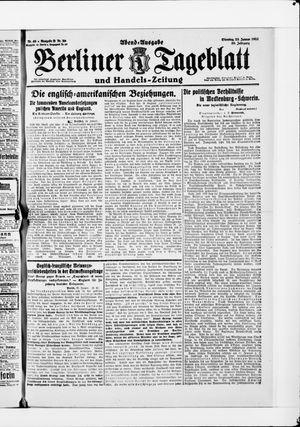 Berliner Tageblatt und Handels-Zeitung vom 25.01.1921