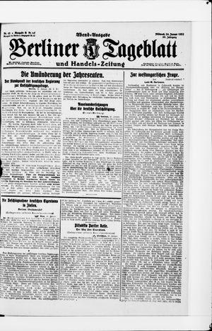 Berliner Tageblatt und Handels-Zeitung vom 26.01.1921
