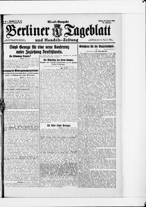 Berliner Tageblatt und Handels-Zeitung vom 28.01.1921