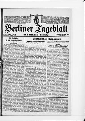 Berliner Tageblatt und Handels-Zeitung on Jan 29, 1921