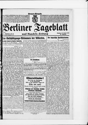 Berliner Tageblatt und Handels-Zeitung vom 30.01.1921