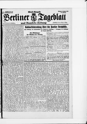 Berliner Tageblatt und Handels-Zeitung vom 31.01.1921