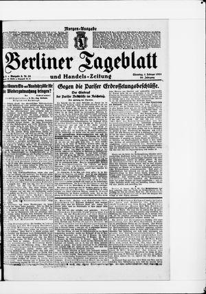 Berliner Tageblatt und Handels-Zeitung vom 01.02.1921