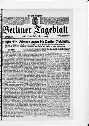 Berliner Tageblatt und Handels-Zeitung vom 02.02.1921