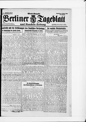 Berliner Tageblatt und Handels-Zeitung vom 03.02.1921