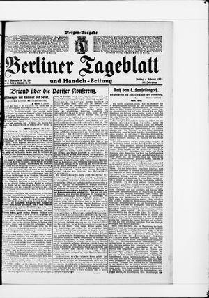 Berliner Tageblatt und Handels-Zeitung vom 04.02.1921
