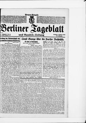 Berliner Tageblatt und Handels-Zeitung vom 06.02.1921