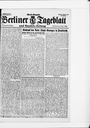 Berliner Tageblatt und Handels-Zeitung vom 07.02.1921