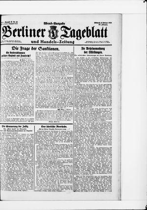 Berliner Tageblatt und Handels-Zeitung vom 09.02.1921