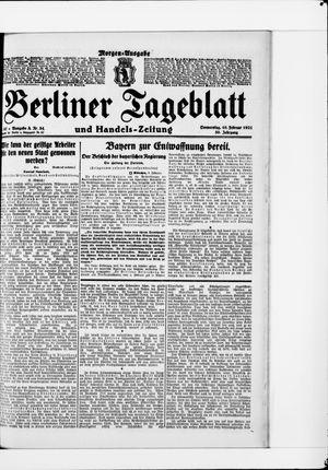 Berliner Tageblatt und Handels-Zeitung vom 10.02.1921