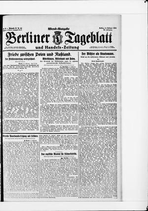 Berliner Tageblatt und Handels-Zeitung vom 11.02.1921