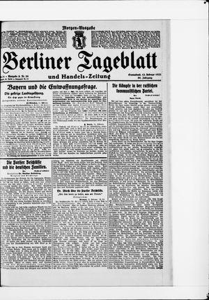 Berliner Tageblatt und Handels-Zeitung vom 12.02.1921
