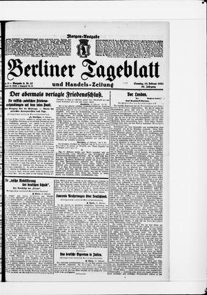 Berliner Tageblatt und Handels-Zeitung vom 13.02.1921