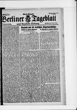 Berliner Tageblatt und Handels-Zeitung vom 14.02.1921