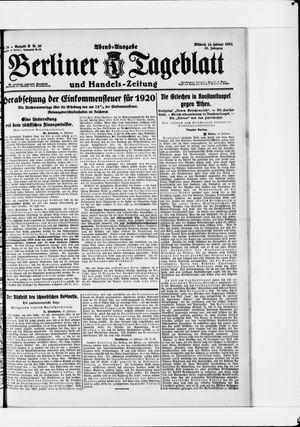 Berliner Tageblatt und Handels-Zeitung vom 16.02.1921
