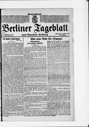 Berliner Tageblatt und Handels-Zeitung vom 17.02.1921