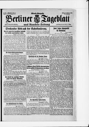 Berliner Tageblatt und Handels-Zeitung vom 18.02.1921