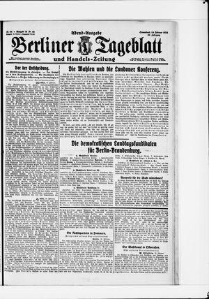 Berliner Tageblatt und Handels-Zeitung vom 19.02.1921