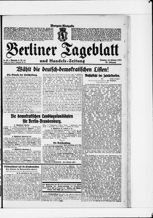 Berliner Tageblatt und Handels-Zeitung vom 20.02.1921