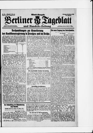 Berliner Tageblatt und Handels-Zeitung vom 22.02.1921