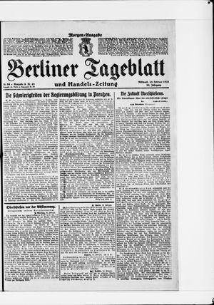 Berliner Tageblatt und Handels-Zeitung vom 23.02.1921