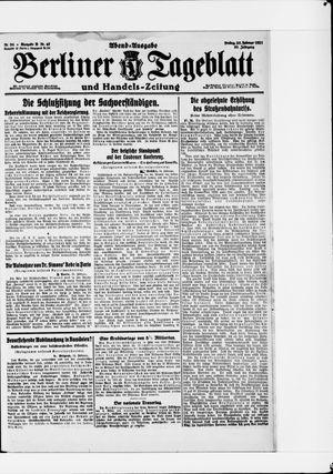 Berliner Tageblatt und Handels-Zeitung vom 25.02.1921
